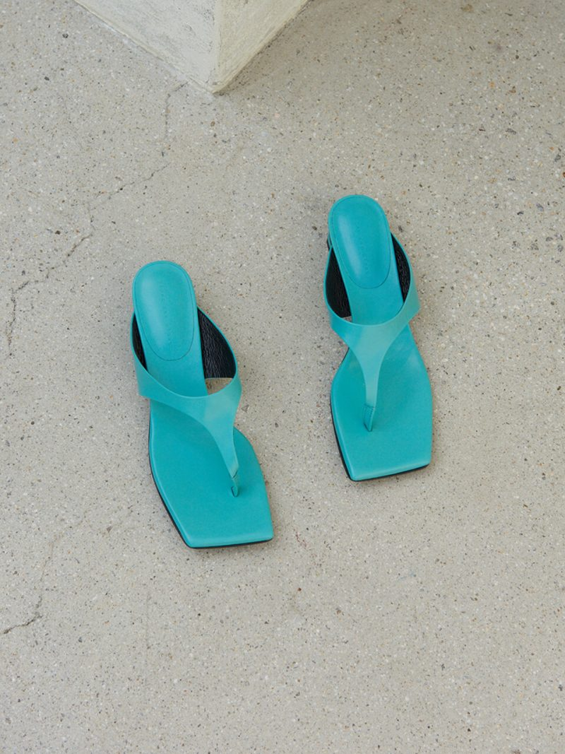 Mila Sandals Leather Ice Green