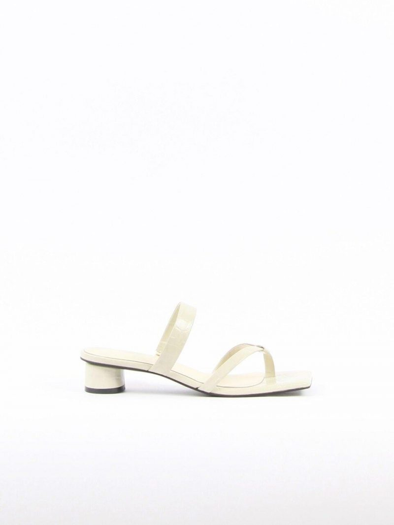Mirabelle Sandals Leather Beige Crocco