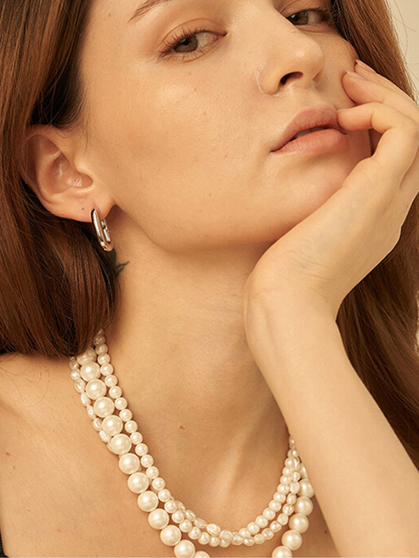 Pearl 3 Lines Necklace