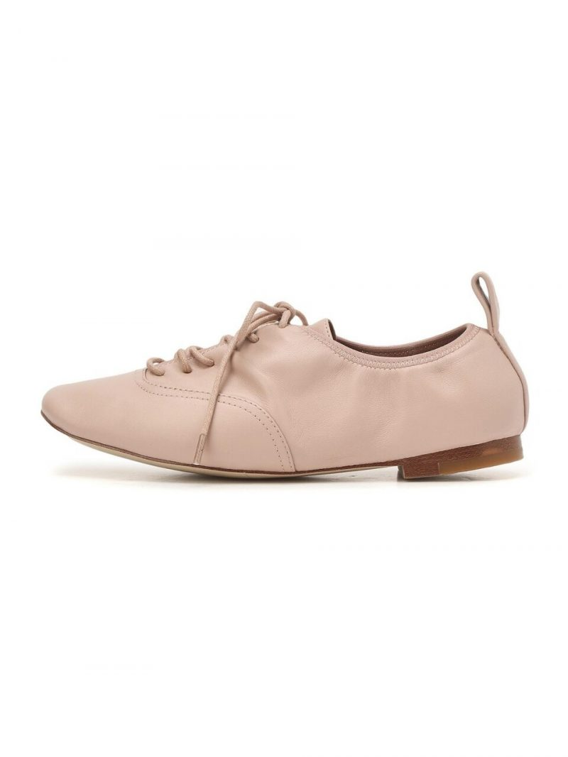 Pink Leather Oxford Shoes