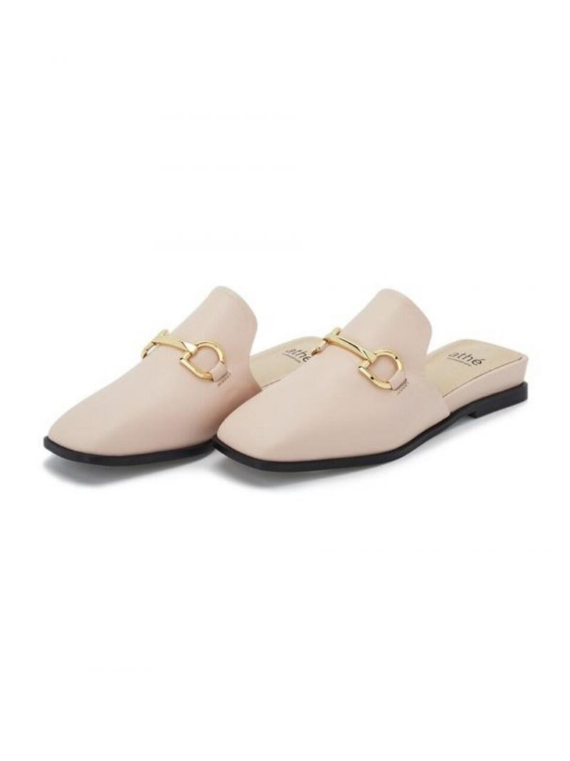 Pink Logo Cow Leather Mule