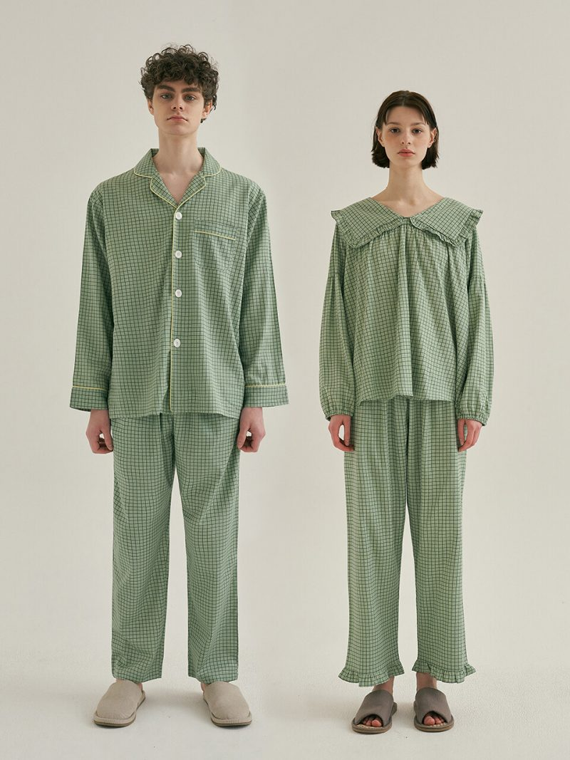 [SET] Couple Peppermint Pajamas With Two-piece