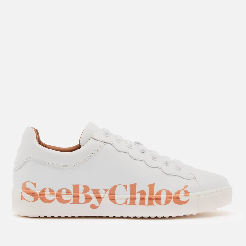 See By Chloé Women's Essie Leather Trainers - White - UK 3