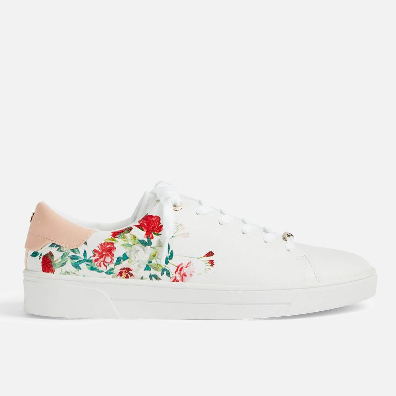 Ted Baker Women's Hayiden Cupsole Trainers - White - UK 3