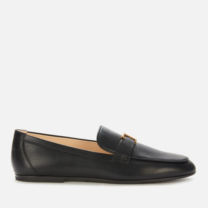 Tod's Women's Gomma Leather Loafers - Black - UK 6