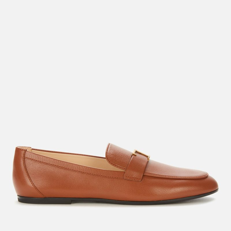 Tod's Women's Gomma Leather Loafers - Tan - UK 4