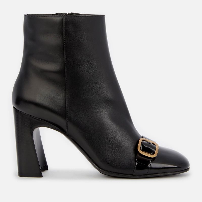 Tod's Women's Leather Heeled Ankle Boots - Black - UK 6