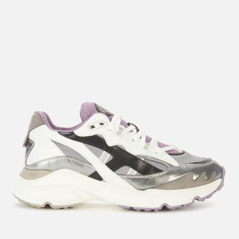 Tod's Women's Sportivo Running Style Trainers - Silver - UK 6