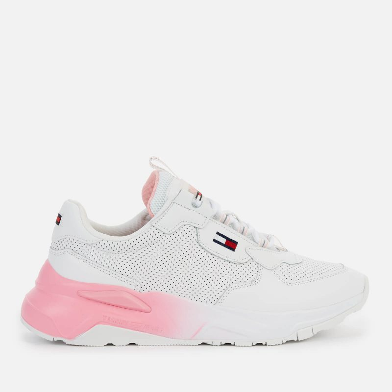 Tommy Jeans Women's Chunky Tech Gradient Running Style Trainers - White - UK 4