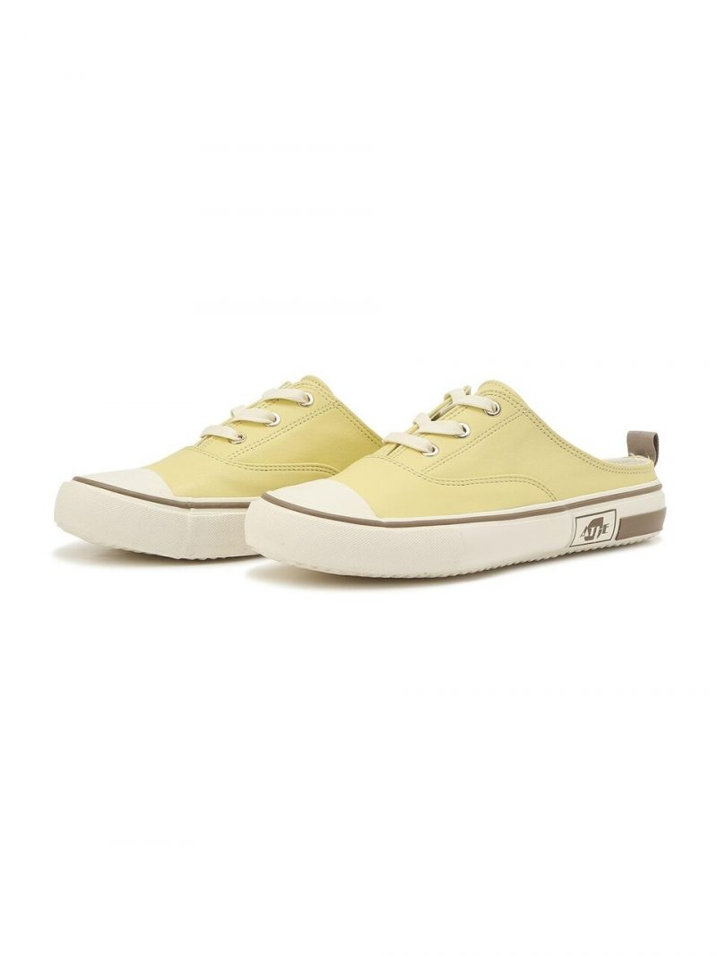 Yellow Leather Sneaker Mules