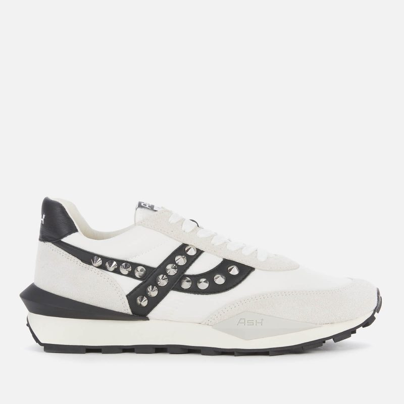 Ash Women's Spider Studs Sustainable Running Style Trainers - White/Off White - UK 4