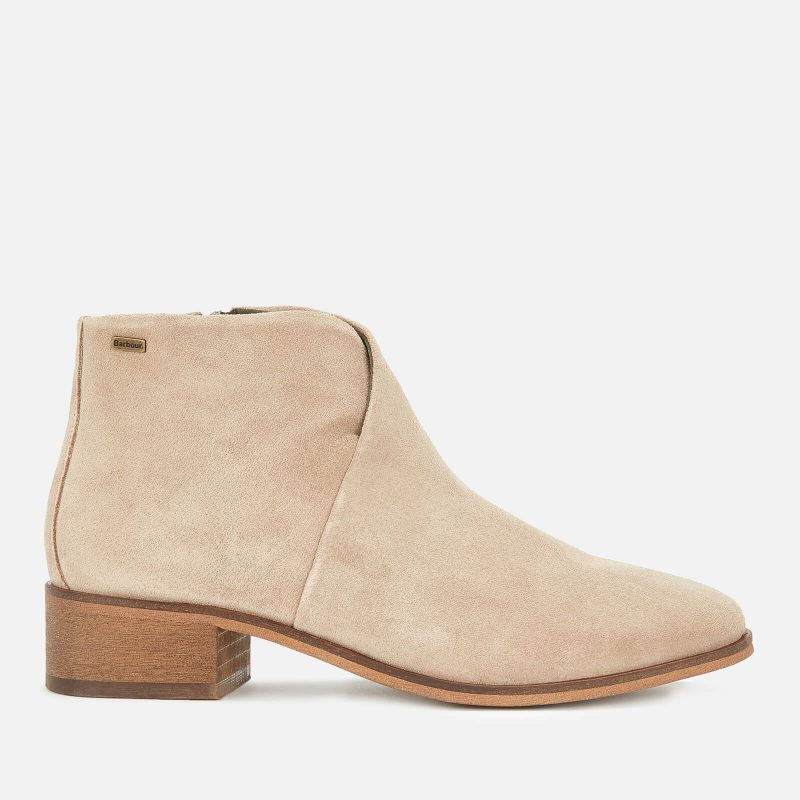 Barbour Women's Caryn Suede Heeled Ankle Boots - Sand - UK 8