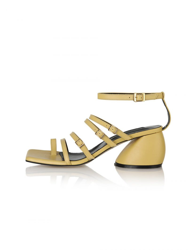 Connie Gladiator Back-T Sandals 21PF-S481 Burnt Yellow