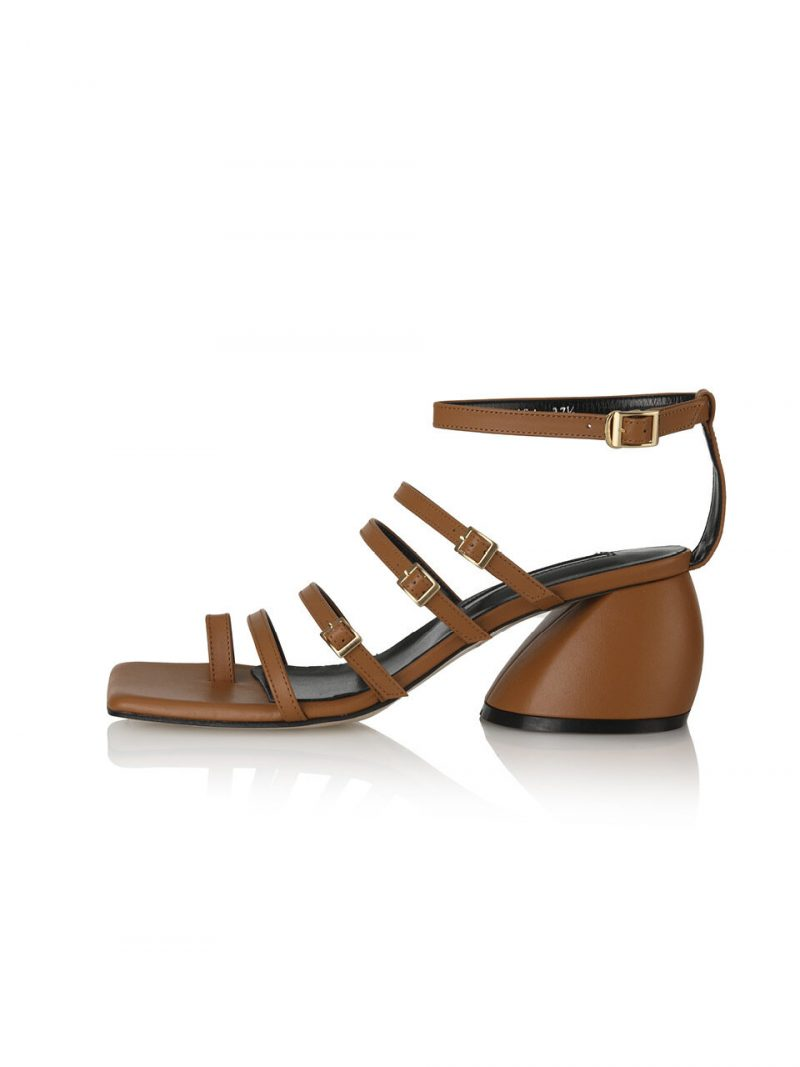 Connie Gladiator Back-T Sandals 21PF-S481 Caramel