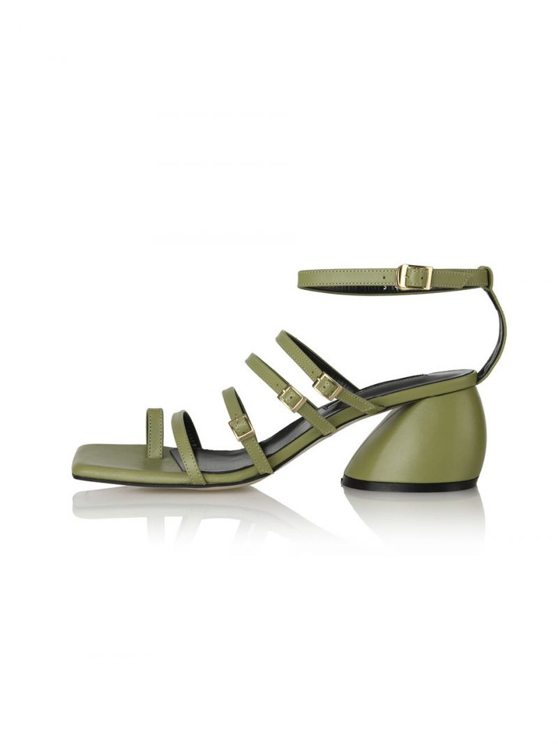 Connie Gladiator Back-T Sandals 21PF-S481 Moss Green