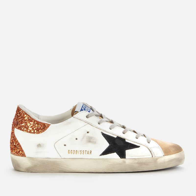 Golden Goose Deluxe Brand Women's Superstar Leather Trainers - White/Capuccino/Black - UK 3