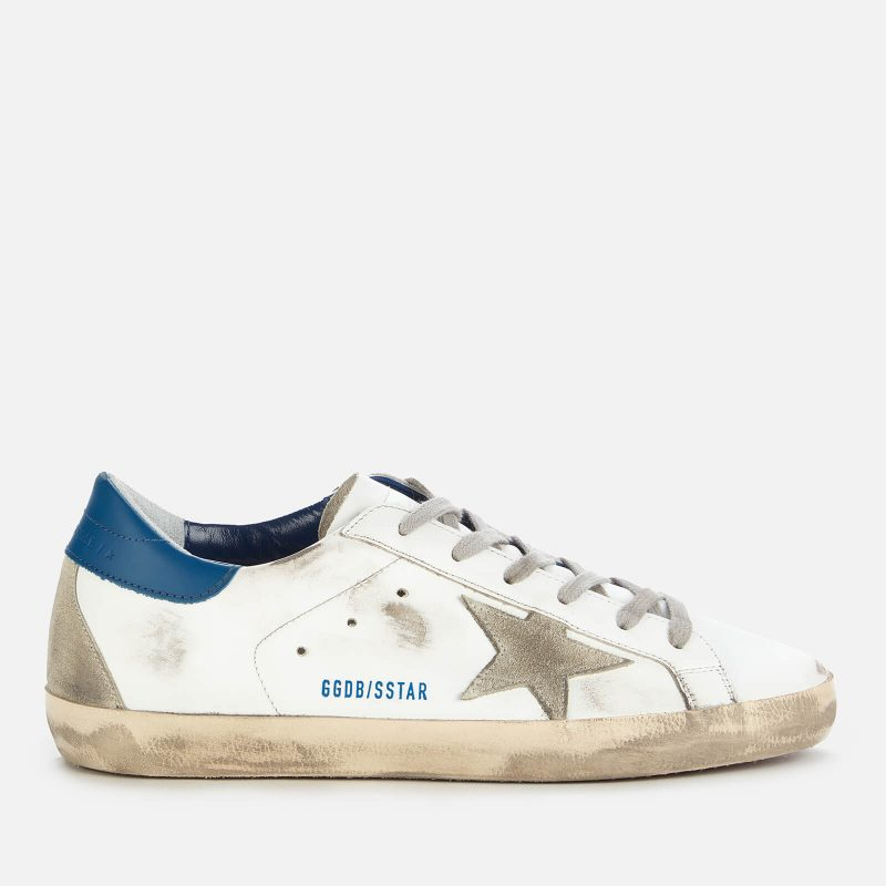 Golden Goose Deluxe Brand Women's Superstar Leather Trainers - White/Ice/Blue - UK 3