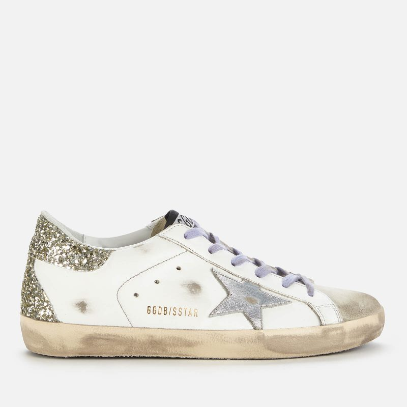 Golden Goose Deluxe Brand Women's Superstar Leather Trainers - White/Ice/Silver - UK 3
