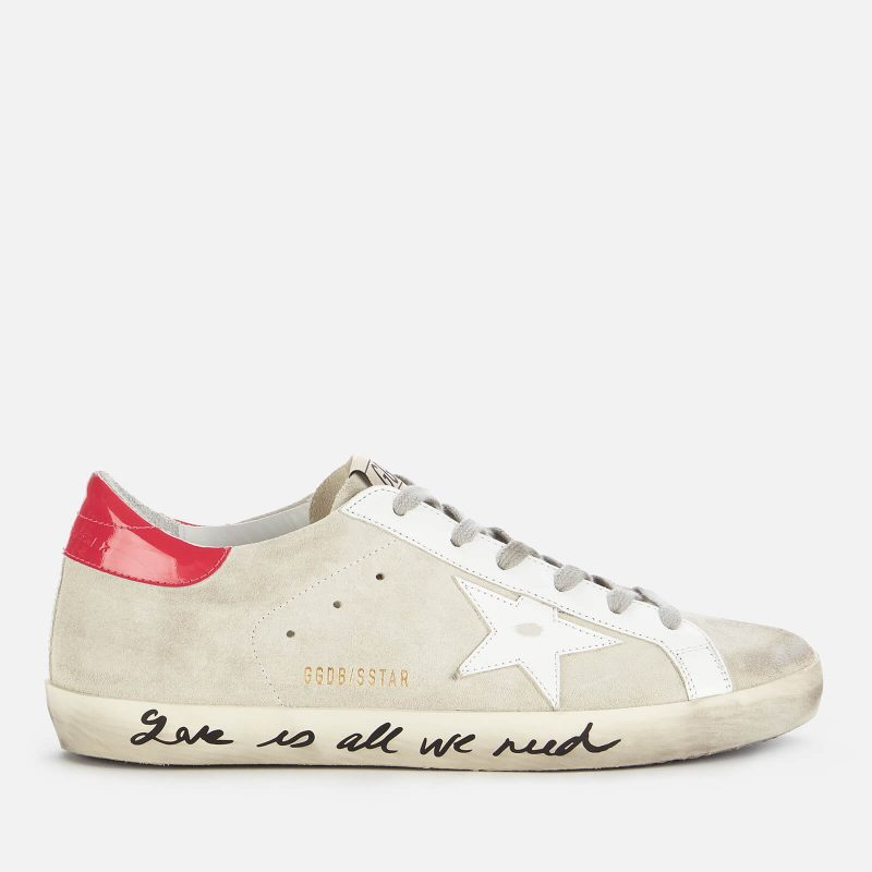 Golden Goose Deluxe Brand Women's Superstar Suede Trainers - Ice/White/Light Red - UK 3