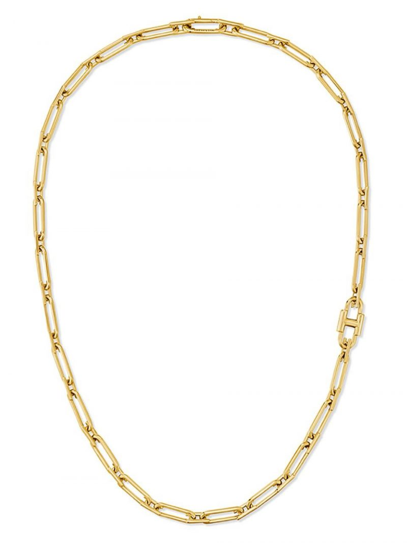 Heriter Silver Link Necklace Yellow HL5N06510Y9500