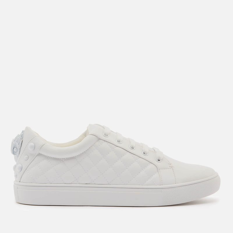 Kurt Geiger London Women's Ludo Drench Leather Quilted Cupsole Trainers - White - UK 3