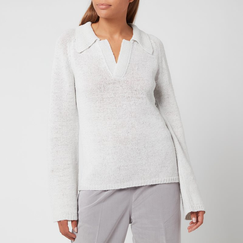 Our Legacy Women's Knitted Polo Longsleeve - White - S