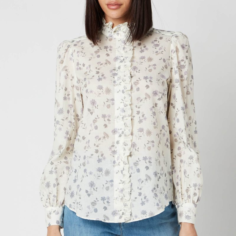 See By Chloé Women's Floral Printed Blouse - White Grey - EU 38/UK 10