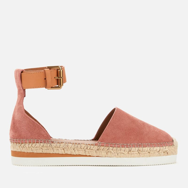 See By Chloé Women's Glyn Leather Espadrilles - Pink - UK 3