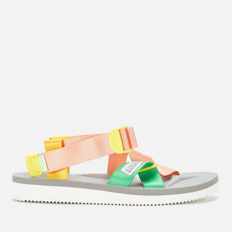 Suicoke Women's Chin-2 Cab Strappy Sandals - Pink/Grey - 3