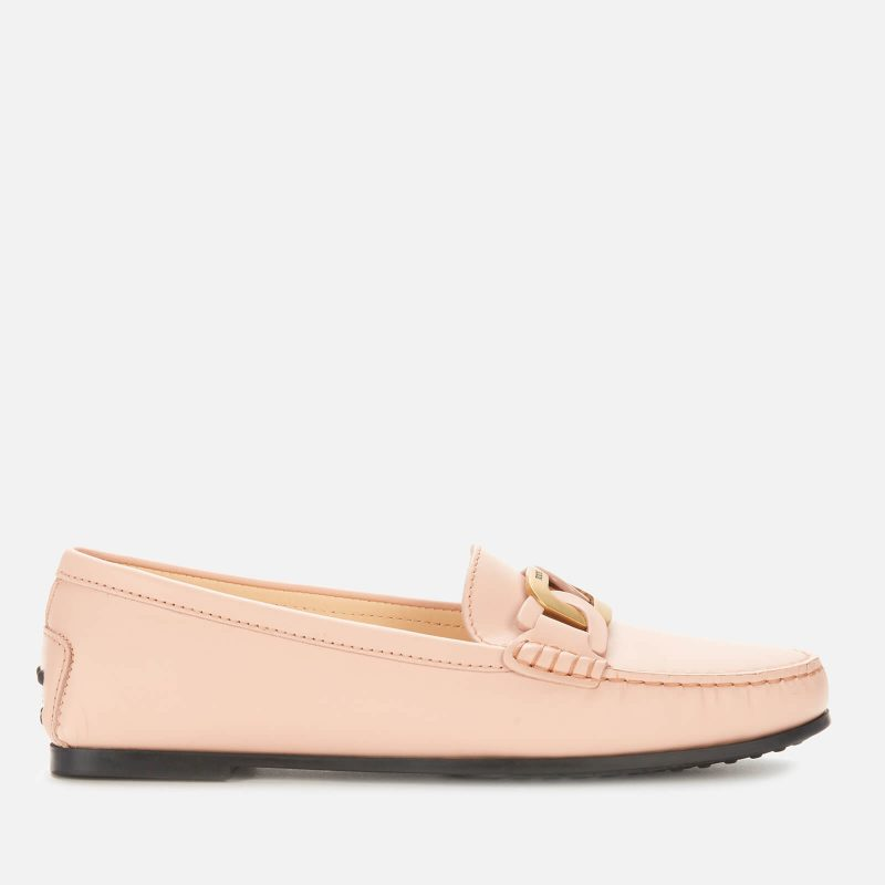 Tod's Women's City Gommino Leather Mocassins - Pink - UK 5