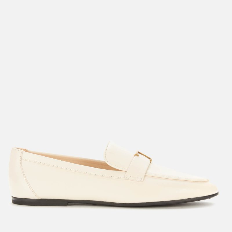 Tod's Women's Gomma Leather Loafers - White - UK 7