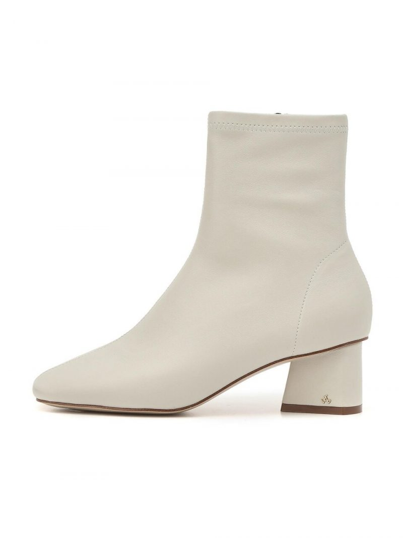 White Ankle Casual Boots