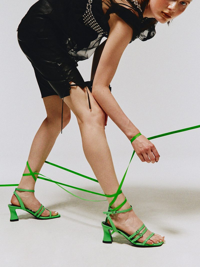 Ava Strap Sandals / Y.07-S65 / FLUO GREEN