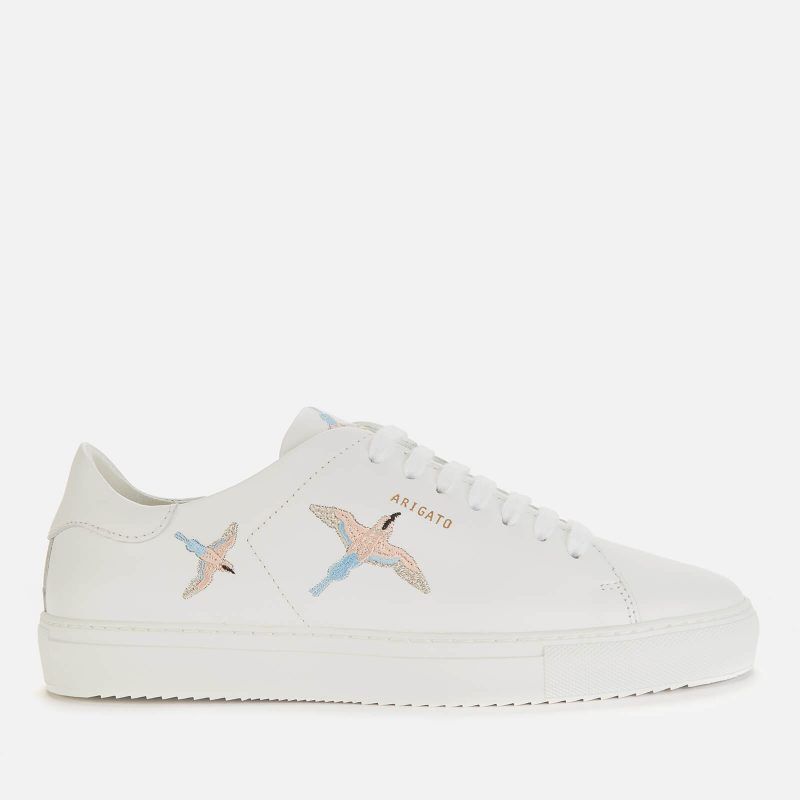 Axel Arigato Women's Clean 90 Bird Leather Cupsole Trainers - White/Blue/Pink - UK 6.5