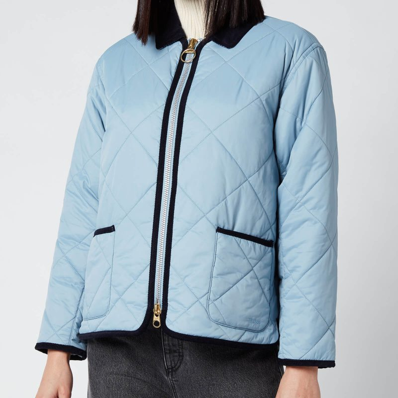 Barbour X Alexa Chung Women's Quilty Quilted Jacket - Fade Blue - UK 12