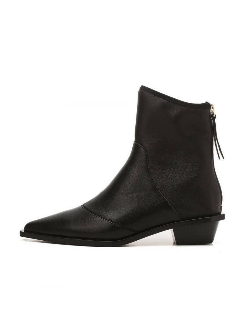 Black Incision Casual Boots