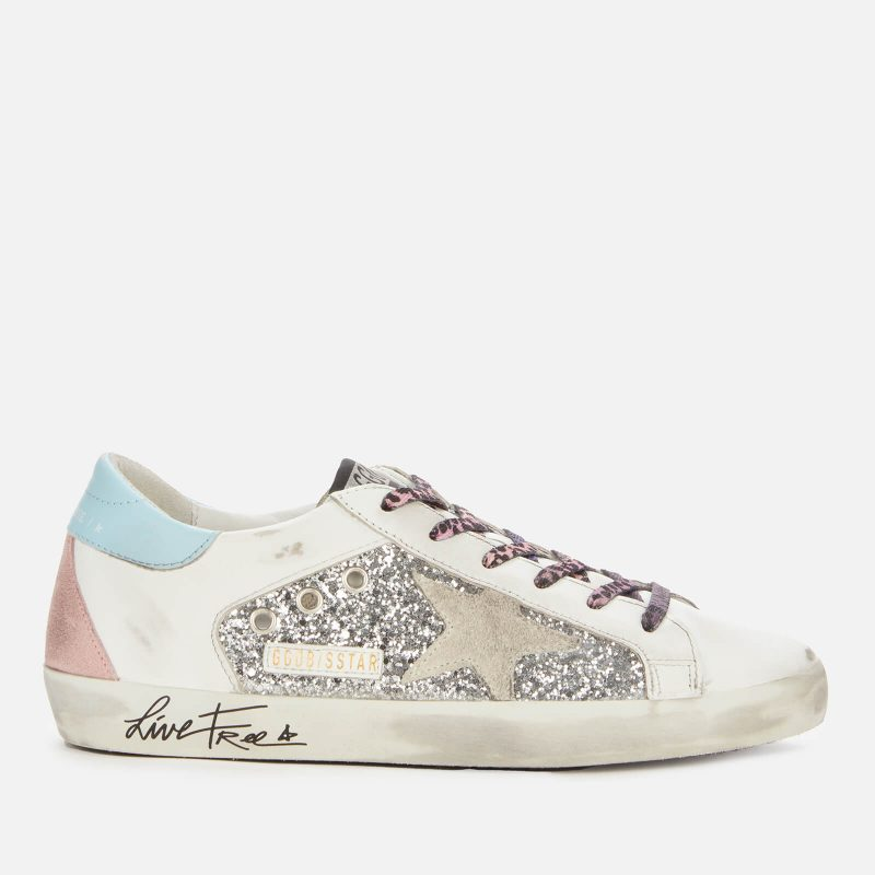 Golden Goose Deluxe Brand Women's Superstar Leather Trainers - Silver/White/Ice - UK 3