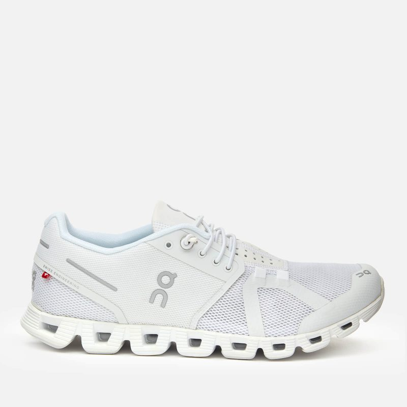 ON Women's Cloud Running Trainers - All White - UK 3