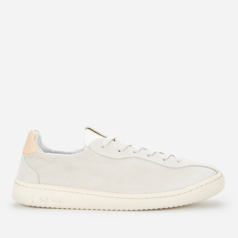 Paul Smith Women's Wilson Suede Low Top Trainers - Off White - UK 4