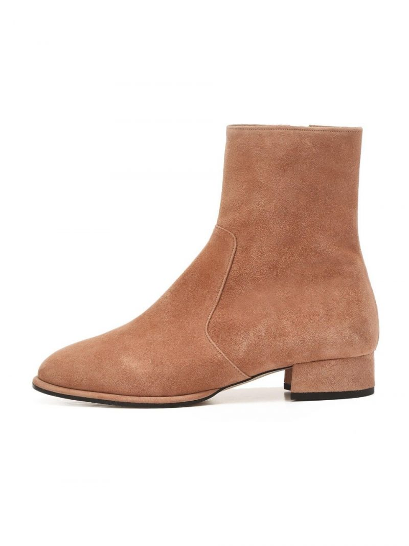 Pink Suede Casual Boots