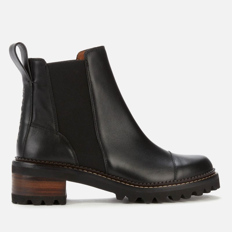 See By Chloé Women's Mallory Leather Chelsea Boots - Black - UK 4