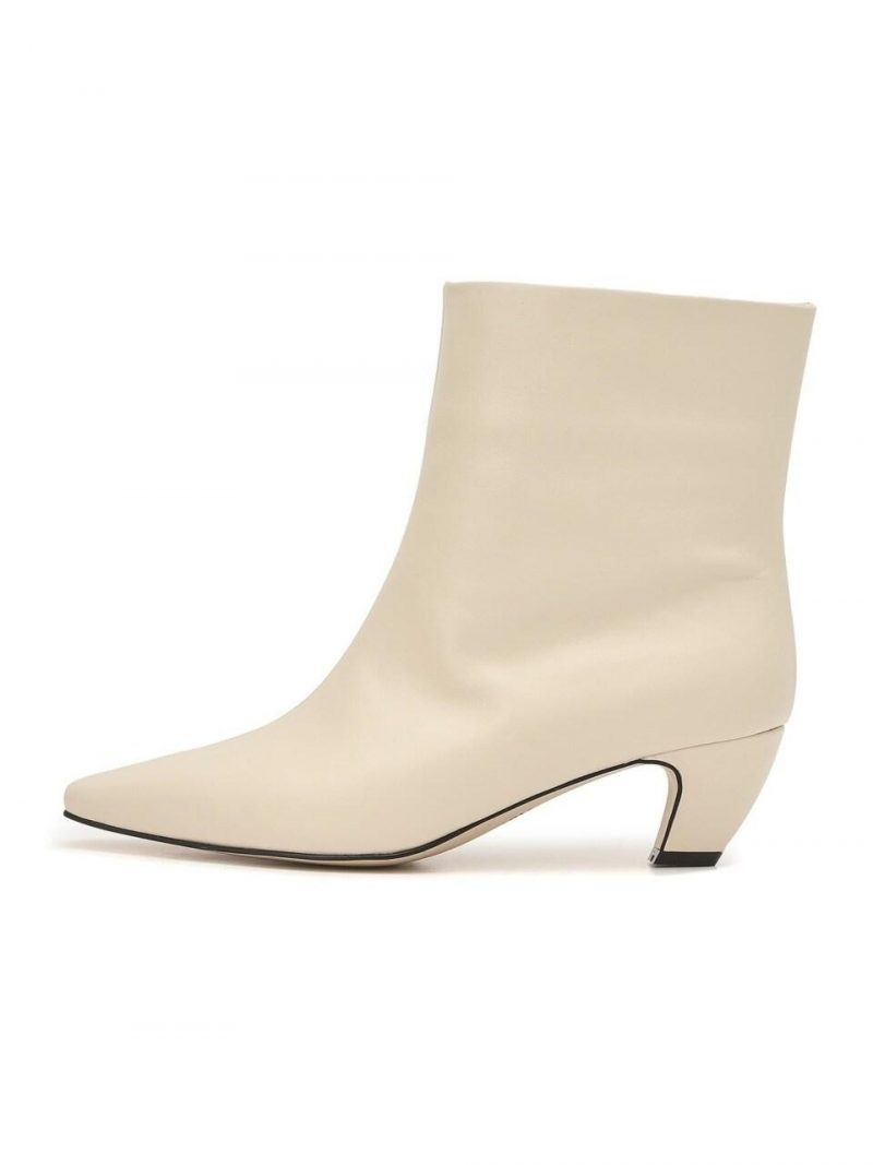 Seine Ivory Cow Leather Casual Boots