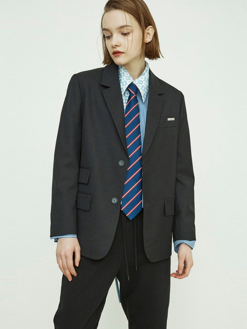 Slim Fit Two Buttons Jacket
