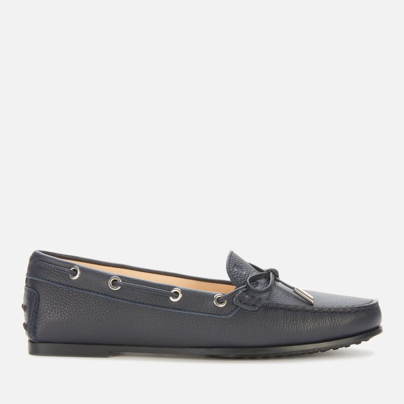Tod's Women's City Gommino Leather Driving Shoes - Black - UK 7