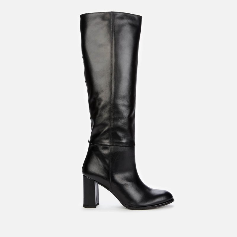 Whistles Women's High Heeled Leather Knee High Boots - Black - UK 4
